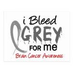 I Bleed Grey For ME Brain Cancer Postcards