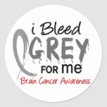 I Bleed Grey For ME Brain Cancer Round Stickers