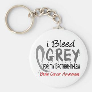 I Bleed Grey For My Brother-In-Law Brain Cancer Keychain