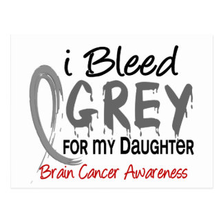 I Bleed Grey For My Daughter Brain Cancer Postcard