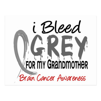 I Bleed Grey For My Grandmother Brain Cancer Postcard