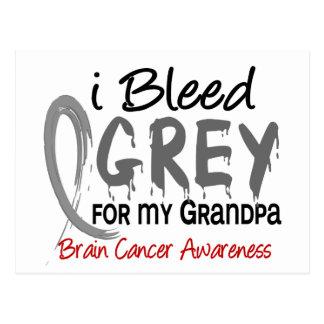 I Bleed Grey For My Grandpa Brain Cancer Postcard