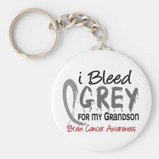 I Bleed Grey For My Grandson Brain Cancer Keychains