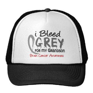 I Bleed Grey For My Grandson Brain Cancer Trucker Hat
