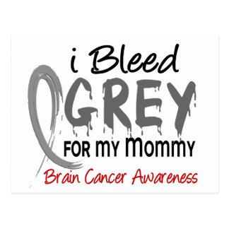 I Bleed Grey For My Mommy Brain Cancer Postcard