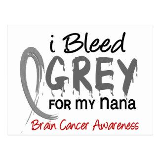 I Bleed Grey For My Nana Brain Cancer Postcard