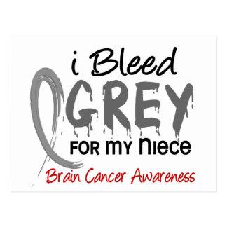 I Bleed Grey For My Niece Brain Cancer Postcard