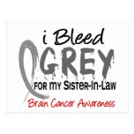 I Bleed Grey For My Sister-In-Law Brain Cancer Postcard
