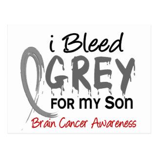 I Bleed Grey For My Son Brain Cancer Postcard