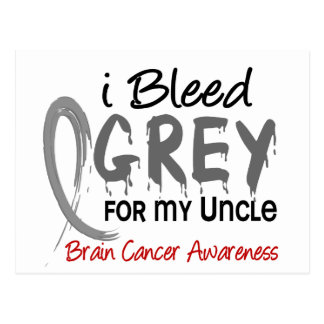 I Bleed Grey For My Uncle Brain Cancer Postcard