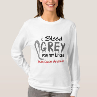 I Bleed Grey For My Uncle Brain Cancer T-Shirt
