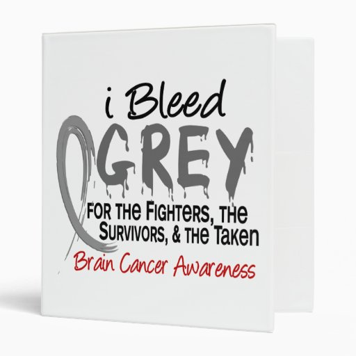 I Bleed Grey For The FST Brain Cancer 3 Ring Binders