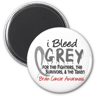 I Bleed Grey For The FST Brain Cancer Magnet