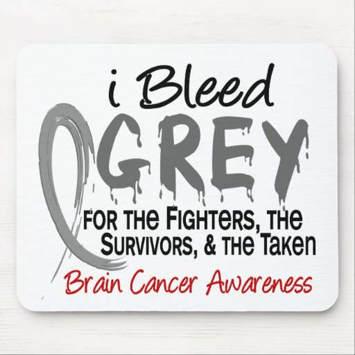 I Bleed Grey For The FST Brain Cancer Mousepad