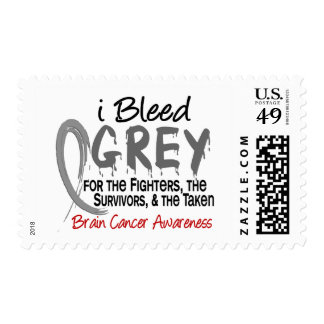 I Bleed Grey For The FST Brain Cancer Postage