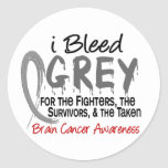 I Bleed Grey For The FST Brain Cancer Round Stickers