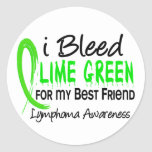 I Bleed Lime Green For My Best Friend Lymphoma Sticker