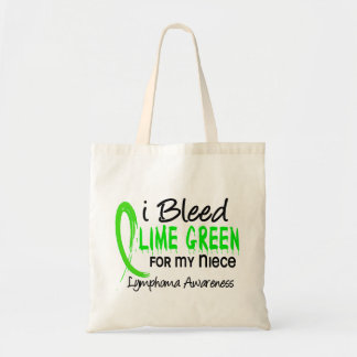 I Bleed Lime Green For My Niece Lymphoma Tote Bag
