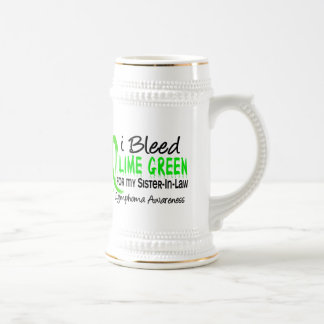 I Bleed Lime Green For My Sister-In-Law Lymphoma Beer Stein