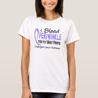 I Bleed Periwinkle Best Friend Esophageal Cancer T-Shirt