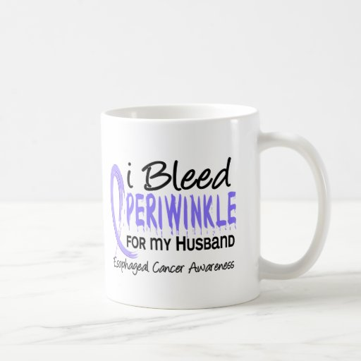 I Bleed Periwinkle For Husband Esophageal Cancer Coffee Mugs