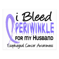 I Bleed Periwinkle For Husband Esophageal Cancer Postcard