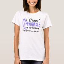 I Bleed Periwinkle For Husband Esophageal Cancer T-Shirt