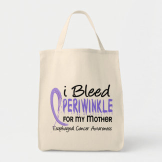 I Bleed Periwinkle For My Mother Esophageal Cancer Tote Bag