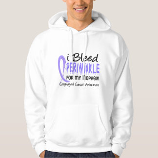I Bleed Periwinkle For My Nephew Esophageal Cancer Hoodie