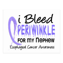 I Bleed Periwinkle For My Nephew Esophageal Cancer Postcard