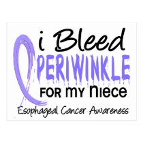 I Bleed Periwinkle For My Niece Esophageal Cancer Postcard