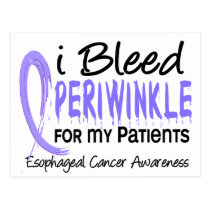 I Bleed Periwinkle For Patients Esophageal Cancer Postcard