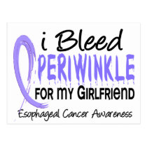I Bleed Periwinkle Girlfriend Esophageal Cancer Postcard