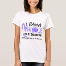 I Bleed Periwinkle Grandfather Esophageal Cancer T-Shirt