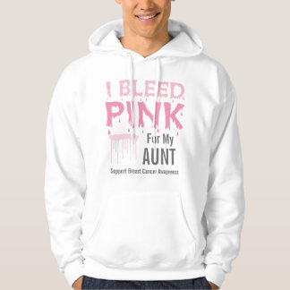 I Bleed Pink For My Aunt Breast Cancer Awareness Hoodie