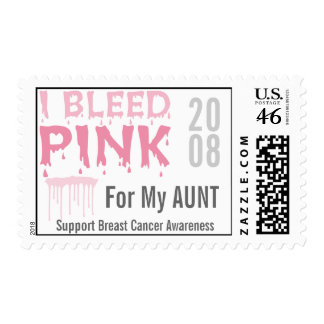 I Bleed Pink For My Aunt Breast Cancer Awareness Postage Stamp