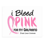I Bleed Pink For My Girlfriend Breast Cancer Postcard