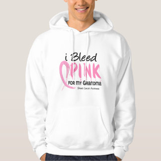 I Bleed Pink For My Grandma Breast Cancer Hoodie