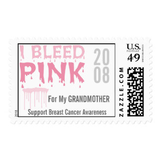 I Bleed Pink For My Grandmother Breast Cancer Postage Stamps