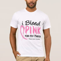 I Bleed Pink For My Niece Breast Cancer T-Shirt