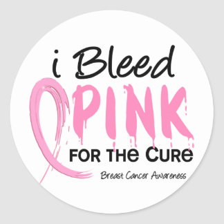 I Bleed Pink For My Patients Breast Cancer Classic Round Sticker