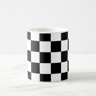 I Bleed Racing Black White Checkered Customize It Magic Mug