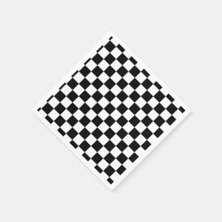 I Bleed Racing Black White Checkered Customize It Paper Napkin