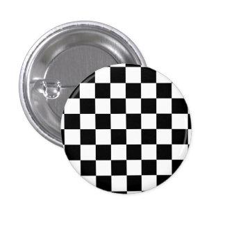 I Bleed Racing Check Black White Checkered Custom Pin