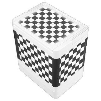 I Bleed Racing Check Black White Checkered Custom Igloo Can Cooler