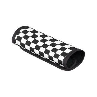 I Bleed Racing Check Black White Checkered Custom Luggage Handle Wrap
