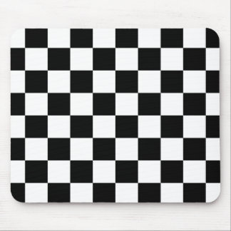 I Bleed Racing Check Black White Checkered Custom Mouse Pad