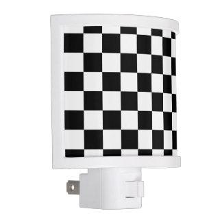 I Bleed Racing Check Black White Checkered Custom Night Light