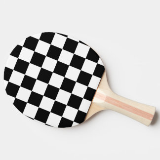 I Bleed Racing Check Black White Checkered Custom Ping-Pong Paddle