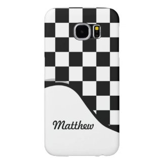 I Bleed Racing Check Black White Checkered Custom Samsung Galaxy S6 Case